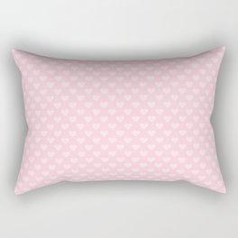 Large Light Soft Pastel Pink Love Hearts Rectangular Pillow