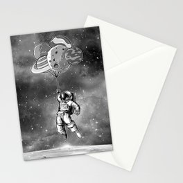 Astronaut & Balloons Planets Stationery Cards