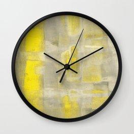 Stasis Gray & Gold 2 Wall Clock