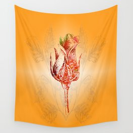 Dreaming Rose Wall Tapestry