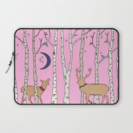 In the Pink Birch Forest Laptop Sleeve