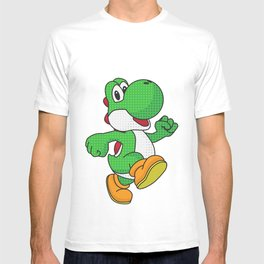 Yoshi Pop Art - Black T-shirt