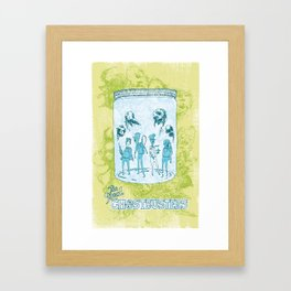 The Real Ghostbusters in a Jam Jar Framed Art Print