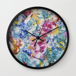 Abstract floral painting Wall Clock
