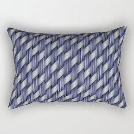Blended Blue Fibre Weave Rectangular Pillow