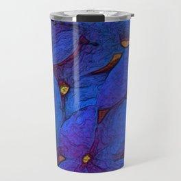 Crinkly floral blue Travel Mug