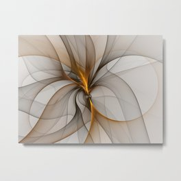 Elegant Chaos, Abstract Fractal Art Metal Print