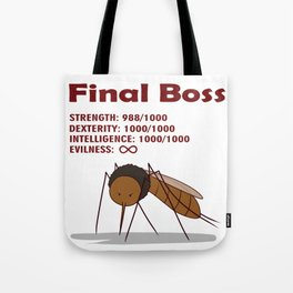 Final Boss - Red Letters Tote Bag