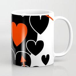 Three Red Hearts Coffee Mug