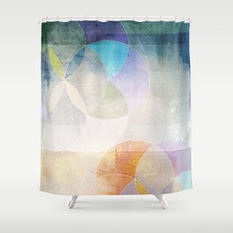 Gamma - Contemporary Geometric Circles Shower Curtain
