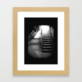 Murky Waters. Muddy Staircase. Framed Art Print