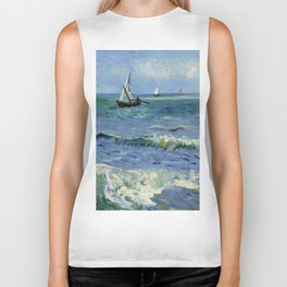 "Vincent Van Gogh ""The Sea at Les Saintes-Maries-de-la-Mer"" Biker Tank"