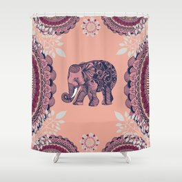 Bohemian Elephant Shower Curtain
