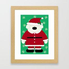 Doggy Santa Framed Art Print