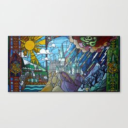 Hogwarts stained glass style Canvas Print