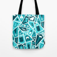 breaking bad Tote Bags featuring Breaking Bad by Felix Rousseau