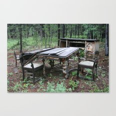 Fine Dining in the Mountains of Colorado Canvas Print