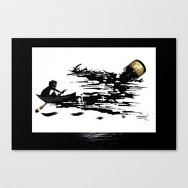 Ink Boat Canvas Print