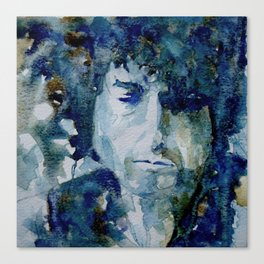 Tangled up in Blue ..Bob Dylan Canvas Print