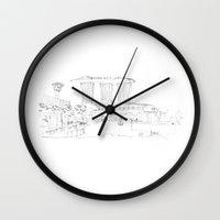 singapore Wall Clocks featuring Singapore by Dario Mabritto