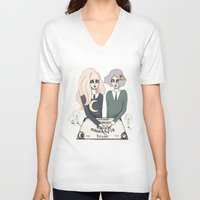ouija V-neck T-shirts featuring Ouija by Bunny Miele