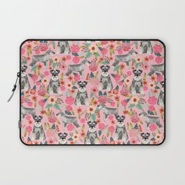 Schnauzer floral dog breed must have gifts for schnauzers Laptop Sleeve
