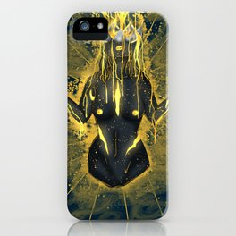 Pouring in gold. iPhone Case