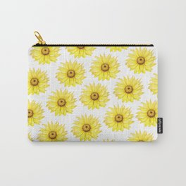 Sunflowers On White Carry-All Pouch