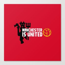 Manchester Is United Canvas Print