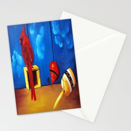 Cardinal, spin and bearing Stationery Cards