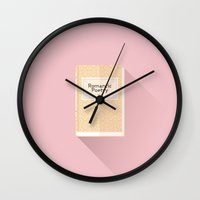 the grand budapest hotel Wall Clocks featuring The Grand Budapest Hotel · Romantic Poetry by Lorena G