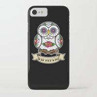 hedwig iPhone & iPod Cases featuring Hedwig Sugar Skull by Artpunk101