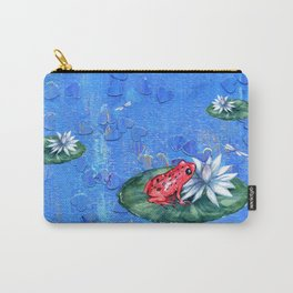 Red Frog on Lily Pad Carry-All Pouch