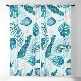 Tropical Banana Leaf Pattern Blackout Curtain