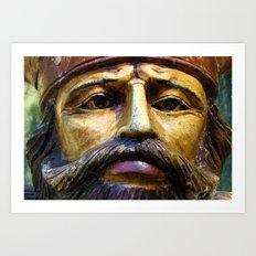 Vintage Viking Art Print