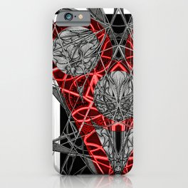 Red Electric Heart iPhone Case