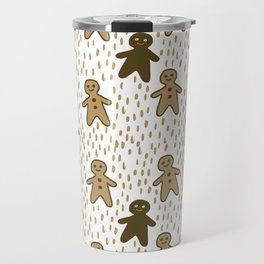 Gingerbread Men Holiday Christmas Cookies Travel Mug