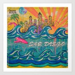 the mural Art Print