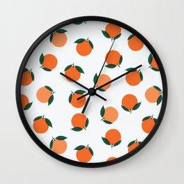 California Wild Oranges Wall Clock