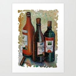Vintage Georgian Wine Fresco Art Print