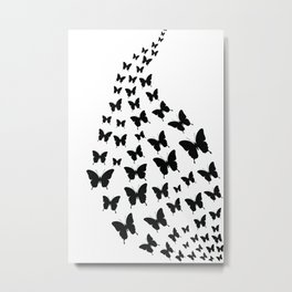 Butterfly Stream Metal Print