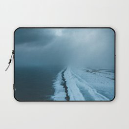 Moody Black Sand Beach in Iceland - Landscape Photography Laptop Sleeve