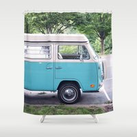 vw Shower Curtains featuring VW by myhideaway