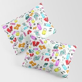 Work Out Items Pattern Pillow Sham