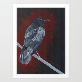 Crow Painting Art Print