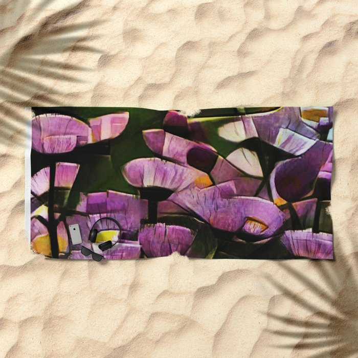 Abstract Wldflowers Beach Towel