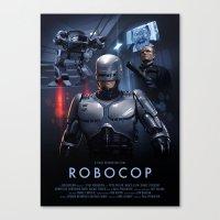 robocop Canvas Prints featuring RoboCop by Brian Taylor