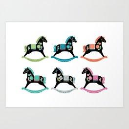 Rocking Horses Art Print