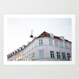 Copenhagen facade Art Print