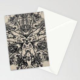 Black Flora No 1 Stationery Cards
